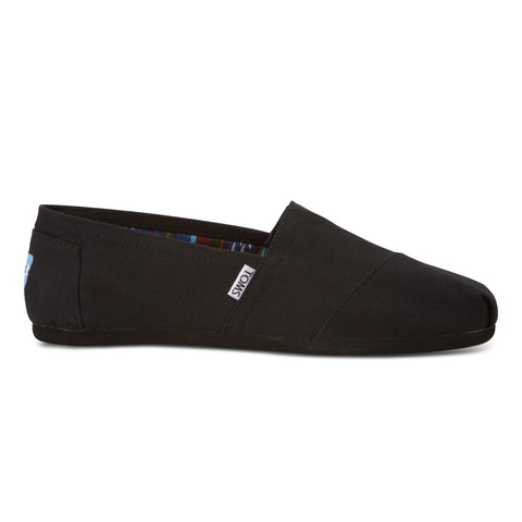 TOMS Black on Black Canvas Men's Classics Shoes