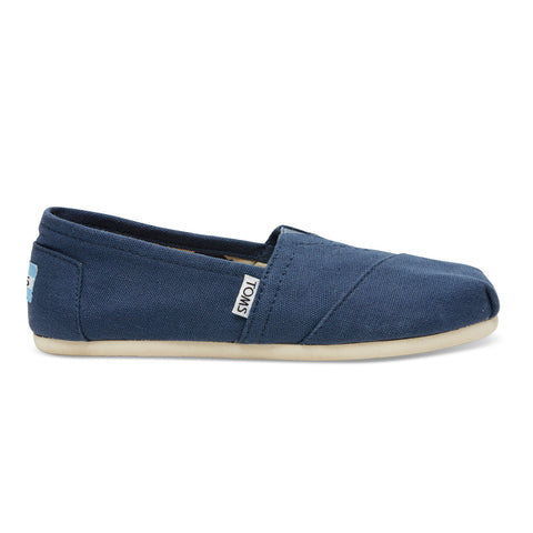 TOMS Navy Canvas Women's Classics Shoes