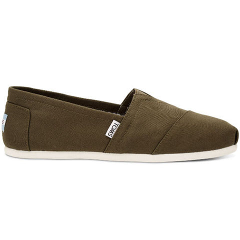 TOMS Military Olive Canvas Men's Classic Shoes