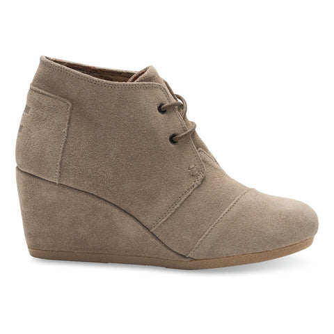 TOMS Taupe Suede Women's Desert Wedges