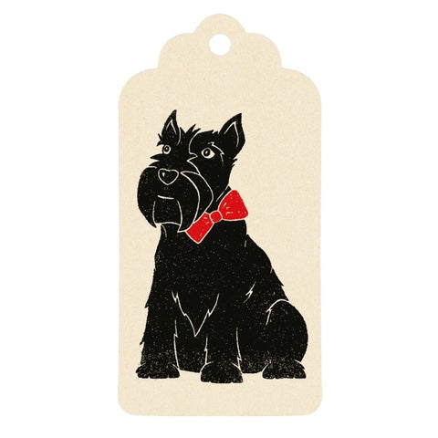 Etichetta regalo - Scottish terrier