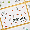 Cartolina piantabile con busta - Good luck - semi di carota