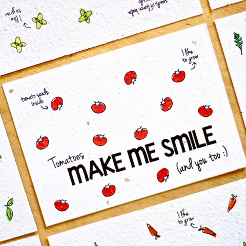 Cartolina piantabile con busta - Make me smile - semi di pomodoro