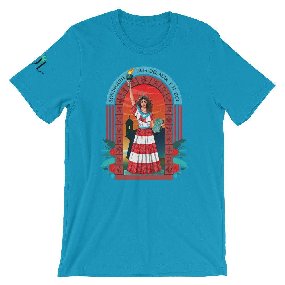 Unisex SOL (w/ background) Short Sleeve T-Shirt (Boricua Ed.)