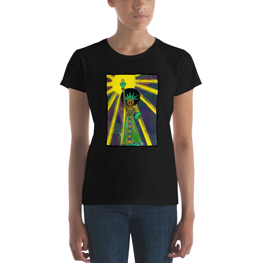 Women's SOL (w/ background) Short-Sleeve T-shirt  (Black History Month Ed.)