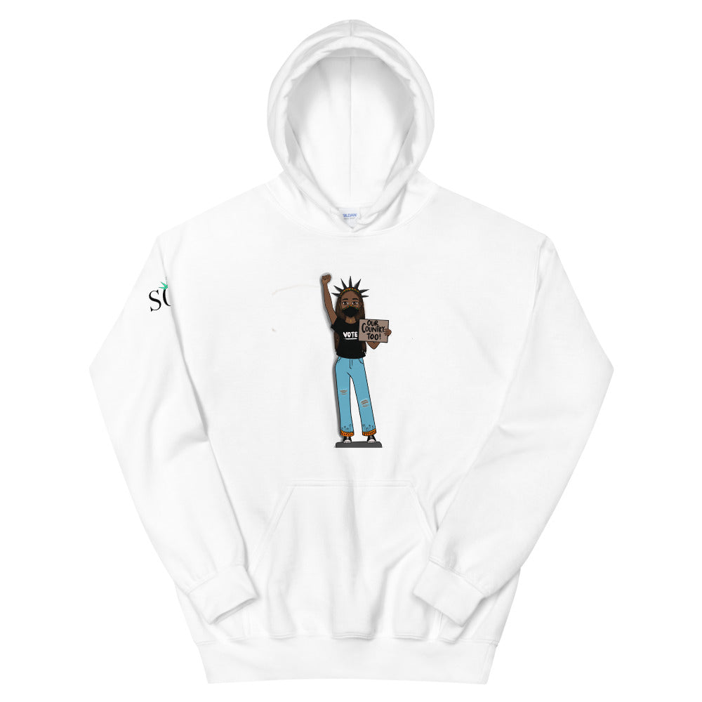 Unisex SOL Classic Hoodie (Our Country Too w/ mask Limited Edition)