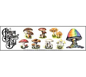 Allman Brothers Ban Mushrooms Sticker