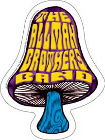 Allman Brothers Band Mushrooom Sticker