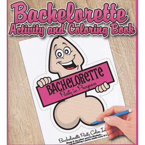 Bachelorette Adult Activity and Coloring Book