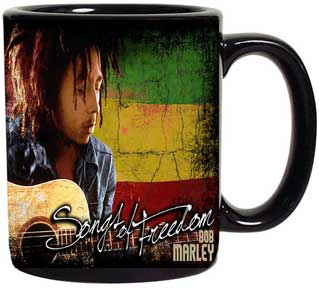 Bob Marley Guitar Coffee Cup