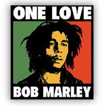 Bob Marley One Love Sticker