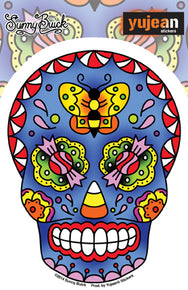 Butterfly Candy Sugar Skull Sticker