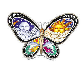Butterfly Nymph Sticker