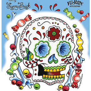 Candy Sugar Skull Sticker