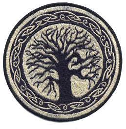 Celtic Tree Embroidered Patch