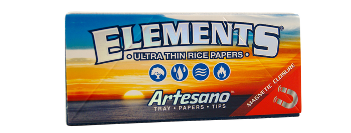 ELEMENTS® Aartesano King Size Slim Ultra Thin Rice Rolling Papers