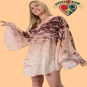 Electric Sky Ombre Tie Dyed Blouse