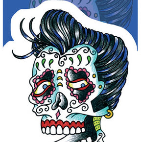 Elvis Sugar Skull Sticker
