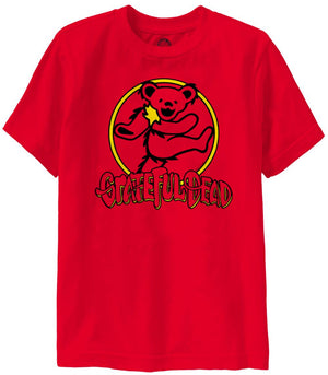 Grateful Dead 2 Color Bear Circle Youth T-Shirt