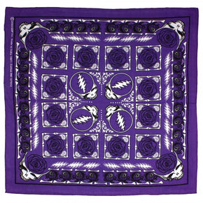 Grateful Dead Bandana Steal Your Face Purple