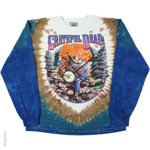 Grateful Dead Banjo Long Sleeve Tie Dye T-Shirt