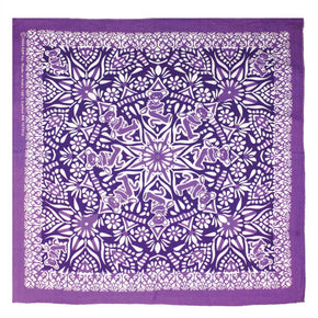 Grateful Dead Bear Mandala Bandana Purple