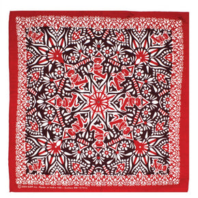 Grateful Dead Bear Mandala Bandana Red