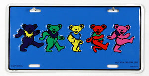 Grateful Dead Dancing Bears License Plate
