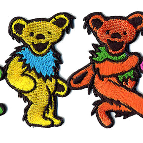 Grateful Dead Dancing Bears in Line Patch