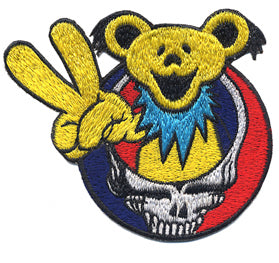 Grateful Dead Peace Out Bear Patch