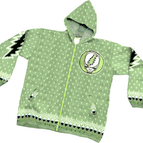 Grateful Dead Steal Your Face Sage Green Alpaca Jacket