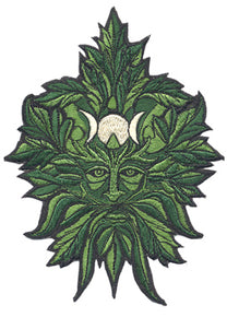 Green Man Embroidered Patch