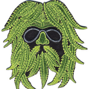 Hippie Green Man Embroidered Patch