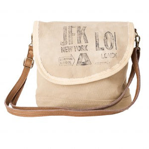 JFK NY Messenger Bag by Clea Ray