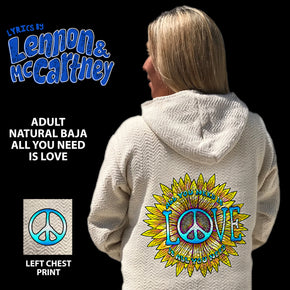 John Lennon All You Need is Love Natural Baja Pullover