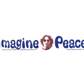 John Lennon Imagine Peace Bumper Sticker