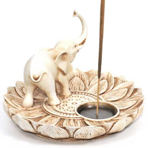 Lotus Elephant Incense Burner