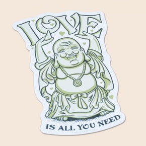 Love is All You Need Buddha Sticker