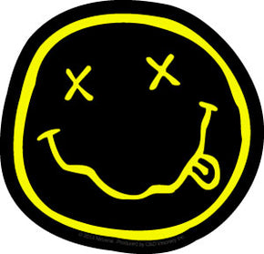 Nirvana Smiley Die Cut Stocker