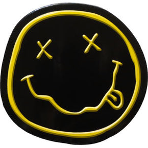 Nirvana Smiley Metal Sticker