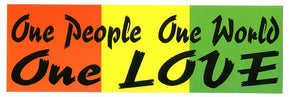 One People One Love One World Bumper Sticker