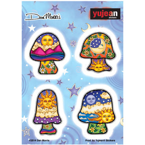Psychedelic Mushroom Sticker Multi Pack