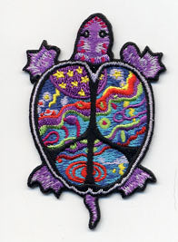 Psychedelic Peace Turtle Patch