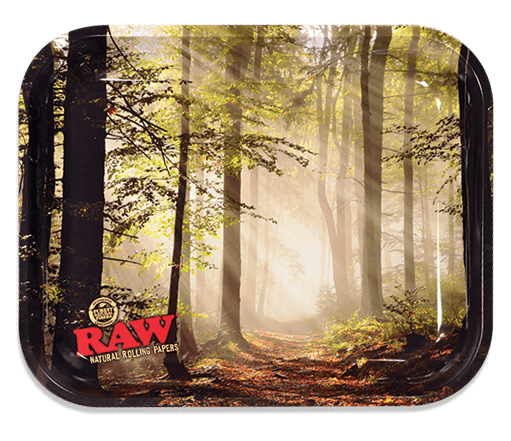RAW Smokey Forest Rolling Tray - Large