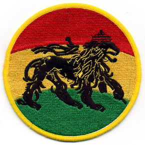 Rasta Lion Circle Patch