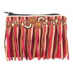 Red Beaded Fringe Coin Purse