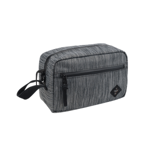 Revelry Stowaway Pouch - Striped Dark Grey