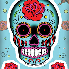 Roses Sugar Skull Sticker Set