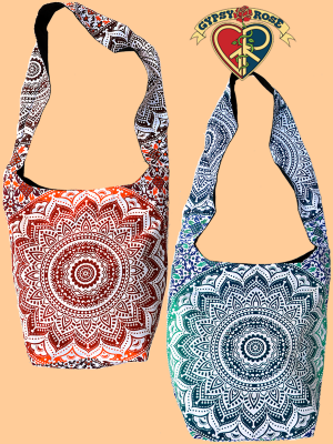 Shangri La Mandala Cotton Peddler Bag