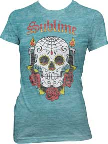 Sublime Skull Burnout Ladies T-Shirt